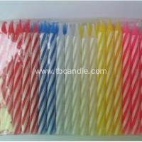 Best Multi-colored Spiral Birthday Pillar Taper Candle wholesale
