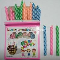 Best Party Time Birthday Spiral Mini Taper candle wholesale