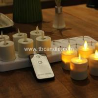 China flameless flickering luminara rechargeable led tea light candles with remote control on sale
