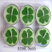 China Lucy Four Leaf Clover Colorful Tealight Candle Lovely Gift on sale