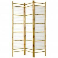 China 6 ft. Tall Burnt Bamboo with Rice Paper Shoji Screen on sale