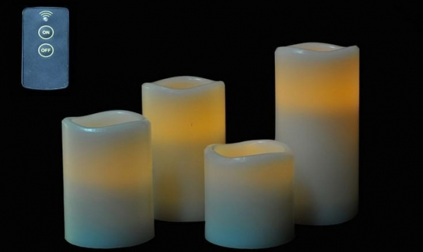 Cheap ITEM:12374 plastic LED pillar candle for sale
