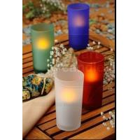 Buy cheap ITEM:12361 Glass votive with battery operated candle from wholesalers
