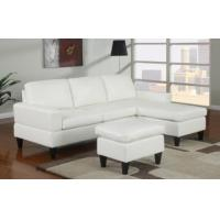 Quality Sausalito Cream Leather Small Sectional Sofa by Urban Cali for sale