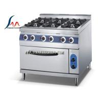 Quality 6-Burner gas range with oven for sale