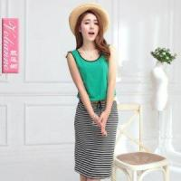 Quality New arrival 2013 color block stripe sleeveless vest one-piece dr for sale