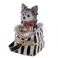 Best TBP0041-Chihuahua dog jewelry trinket box animal craft decor collectible gifts wholesale
