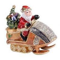 Buy cheap TBP0449-Santa Claus driving tank Christmas treasure box from wholesalers