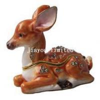Buy cheap TBP0554-Christmas deer trinket box from wholesalers