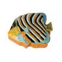 TBP0006- jeweled tropical fish trinket box nautical craft home decor