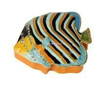 Buy TBP0006- jeweled tropical fish trinket box nautical craft home decor at wholesale prices
