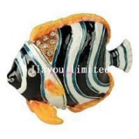 Quality TBP0002C-Butterfly sea Fish trinket jewelry box sea life home decor faberge box for sale