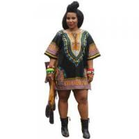 Quality Sales Promotion Polyester Dashiki Shirt with Pockets 21422-6 for sale