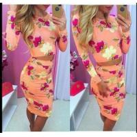 Quality Long Sleeve Floral Two-Piece Set 21450 for sale
