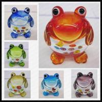 Quality Lamp work glass small frog for sale