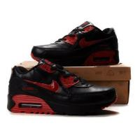 China Air Max 90 Running Shoes Mens Home Latest Design Air Max 90 Mens Shoes Black Red on sale