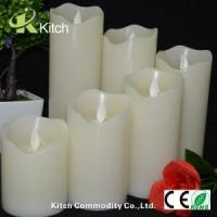 Quality 3D pillar flameless led candles with remote for sale