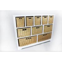 China storage cabinet 801041 solid wood storage cabinet 10 wicker drawers on sale
