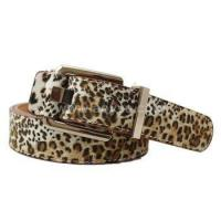 Good Quality custom leopard print women double-sided PU pin buckle leisure belt