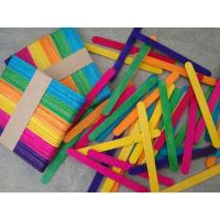 Quality Craft Stick Colorful Ice Cream Stick for sale