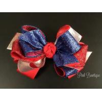 China Patriotic Dazzle Girls Hair Bow on sale