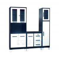Best CBT1-SET Modern Modular Black and White Metal Kitchen Cupboards wholesale