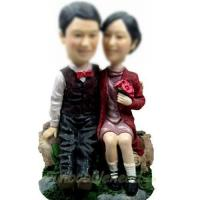 Quality professional Custom bobbleheads of Sweet couple for sale