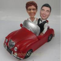 Quality professional Custom bobbleheads with red car for sale