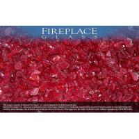 Best Fireplace Glass Crystals Ruby Red Crystal Diamond Fireplace Glass wholesale