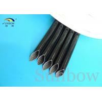 Quality High Voltage Silicone rubber fiberglass sleeving inside fiber and outside rubber for sale