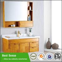 China Solid wood bathroom cabinet on sale