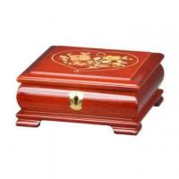 Quality Glossy Lacquer Wooden Jewelry Music Box with Lock for sale