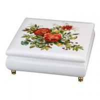Quality Wooden Jewelry Music Box with Floral Pattern for sale