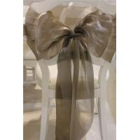 China Two Tones Organza Chair Sashes on sale