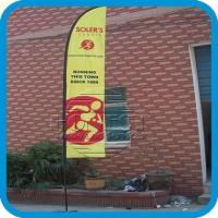 China Best supplier 12ft feather flag pole+single flag printing+cross stand+carry bag on sale