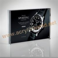 Best acrylic photo frame plastic poster frame for adversting wholesale