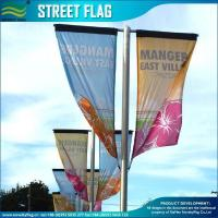China Custom PVC Flex Vinyl Street Banner Flags on sale