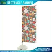 China Custom Printed Rectangle flags banner on sale