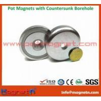 Quality NdFeB Pot Magnet with 90  Countersunk for sale