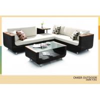 Best black wicker furniture modern sofa with coffee table OMR-F201 wholesale
