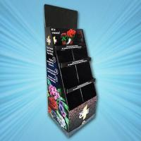 Buy cheap flower show cardboard floor display from wholesalers