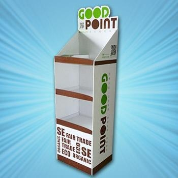 Cheap cardboard shelf displays for sale