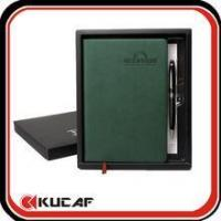 China PU cover 2 page a day diary with gift box on sale