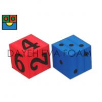 Quality Jumbo EVA Foam Dice set- 12 cm , Dots / Numbers, Red/ Blue D7012A for sale