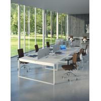China modern home office desks Simple desigb office conference table,white long table BOD-002 on sale