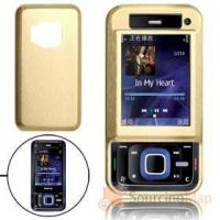 Quality Golden Aluminum Hard Case Cover with Screen Visor for Nokia N81 Cell Phone Cases for sale