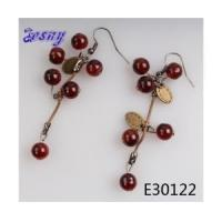 Quality Gold designs new design kids fashionable bead jewelry earring E30122 for sale