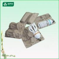 China Moulded pulp led light packing tray on sale