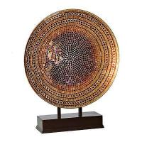 Quality Close Chocolate and Gold Mosaic Charger Finial for sale