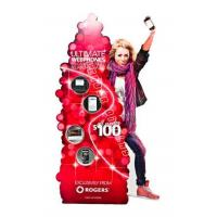 Buy cheap human being model floor cardboard advertising standee for phone from wholesalers